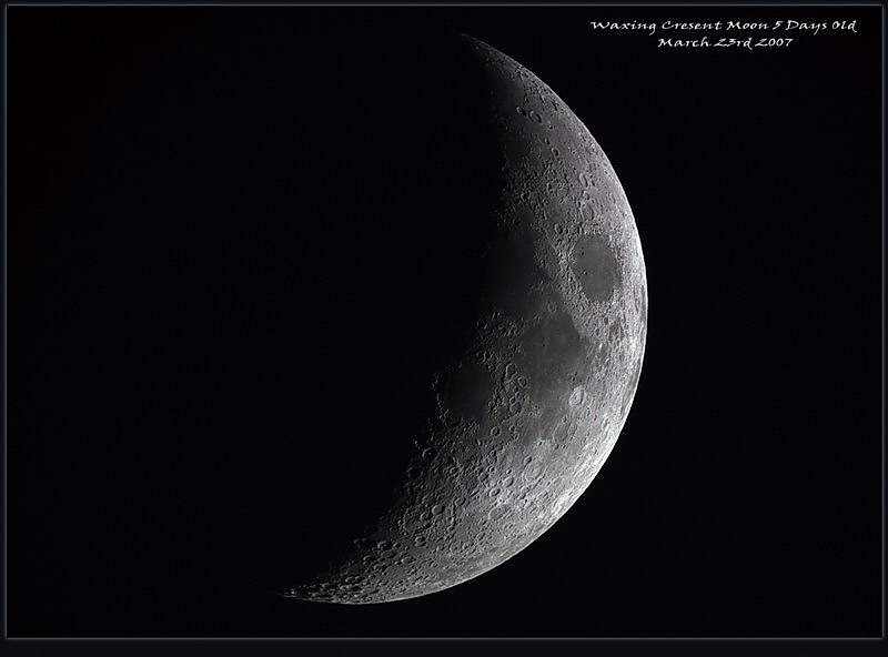 waxing crescent moon. Waxing Crescent Moon